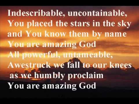 you are amazing god
