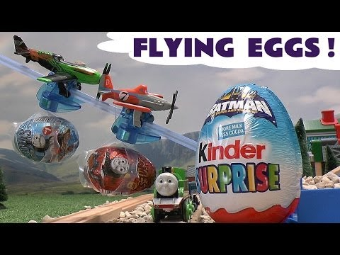 Disney Planes Kinder Surprise Egg Thomas and Friends Batman Donald Duck Kinder Easter Egg Opening