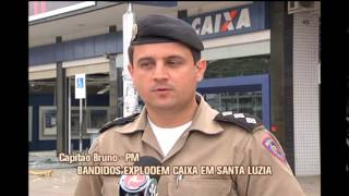 Bandidos explodem caixa eletr�nico e danificam ag�ncia em Santa Luzia