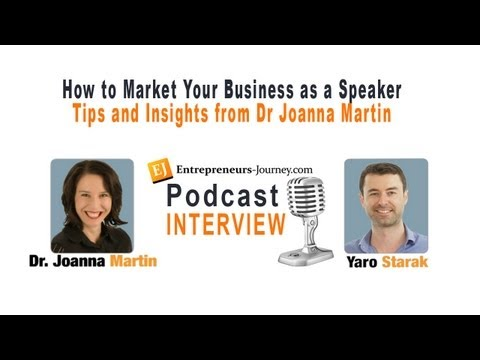 How To Market Your Business as a Speaker – Stage Selling Tips from Dr Joanna Martin Video