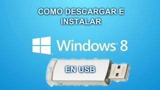 Como Instalar Windows 8 PRO Desde Una Memoria USB