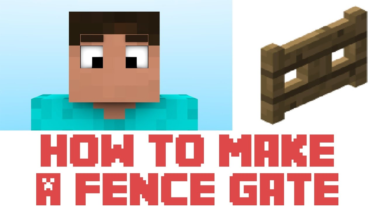 How to Make Fence Gate Minecraft