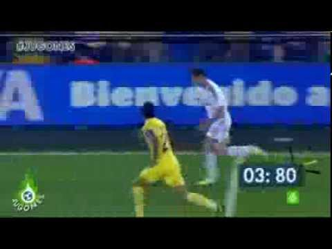 Gareth Bale Vs Villarreal - 75m in 9.12 seconds 40 Km/h - Amazing Run