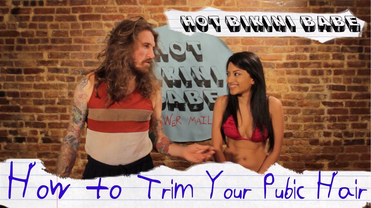 How To Trim Pubic Hair Hot Bikini Babe Youtube