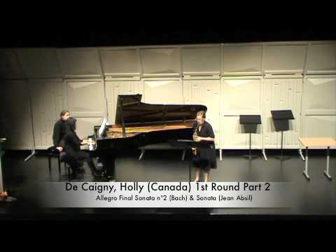 De Caigny, Holly Canada 1st Round Part 2