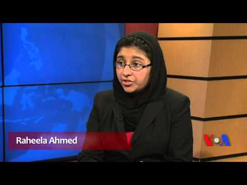 Raheela Ahmed with Ayesha Tanzeem of Urdu VOA