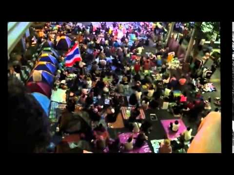 กำนันสุเทพ Thailand Protesters at Asok on Election Day