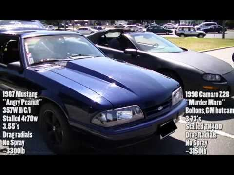 Sunday Funday 351w Mustang vs. Ls1 Camaro Daytime Dig runs.