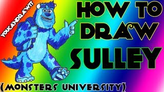 """How To Draw James P. """"Sulley"""" Sullivan From Monsters"""