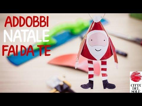 Addobbi Natale fai da te di carta per bambini: Babbo Natale