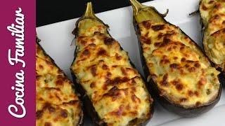 Berenjenas rellenas, super fácil y delicioso!