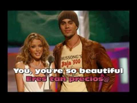 Beautiful - Enrique Iglesais ft. Kylie Minogue - Letra Traducida al Español (Lyrics)