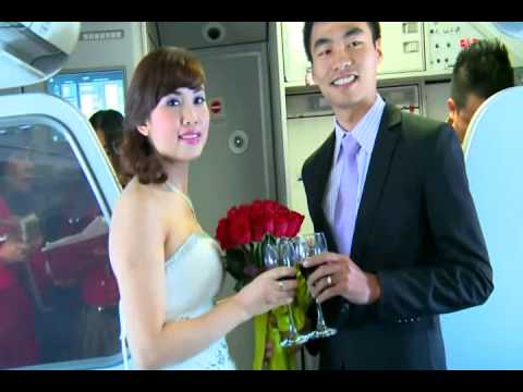 [VETOT.COM.VN] Đám cưới trên máy bay VietJetAir  gây sốt cộng đồng mạng