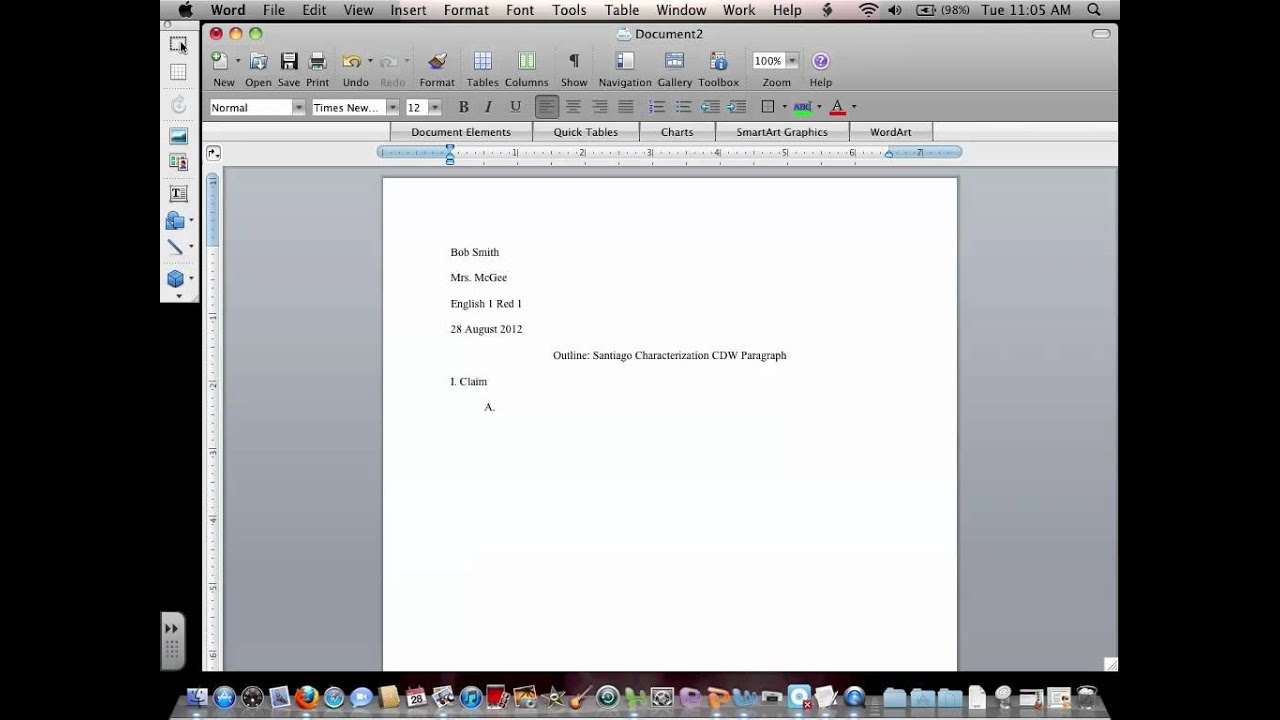 how to set up a bibliography mla