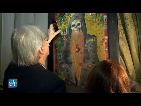 Vittorio Sgarbi visita la mostra sul Tibet