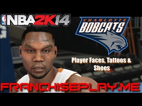 NBA 2K14—PS4—Charlotte Bobcats—Player Faces, Tattoos and Shoes