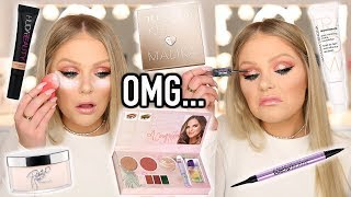 TESTING VIRAL OVERHYPED MAKEUP PRODUCTS | FULL FACE FIRST IMPRESSIONS