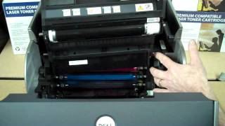 How To Install Drum Unit In A Dell 5100CN Color Printer