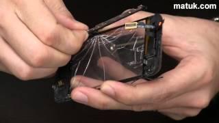 Vidrio roto de un iPhone