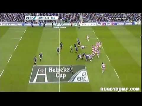 Tries in Europe 2011 2012 quarter final Leinster - Cardiff