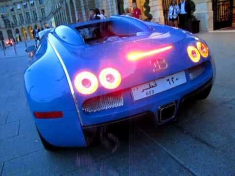 bugatti veyron centenaire blue start up engine sound. Black Bedroom Furniture Sets. Home Design Ideas