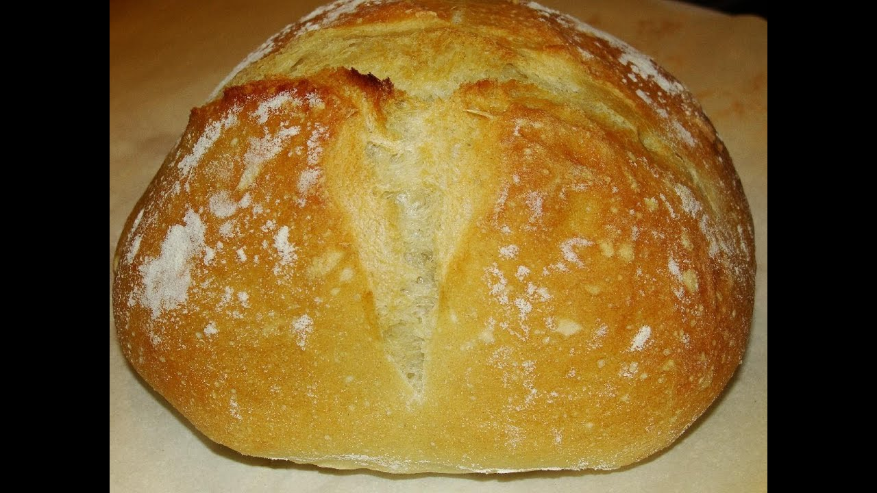 Artisan Bread super simple, no knead - YouTube