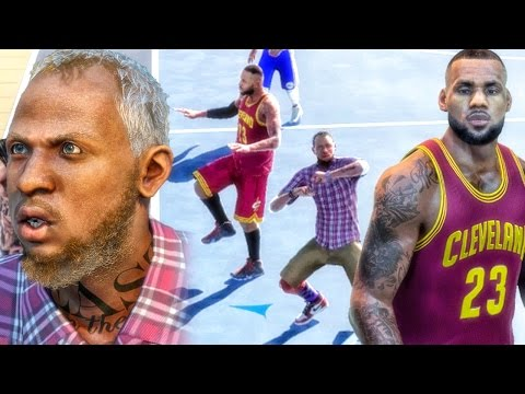 GRANDPA & LEBRON JAMES AT THE PARK! NBA 2k16 My Park Gameplay