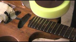 Watch the Trade Secrets Video, Foam polishing pad for guitar finishing