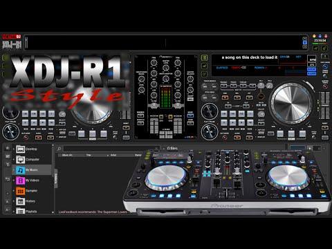 Pioneer XDJ-R1 Style VirtualDJ 8 Skin By Wayne Evans