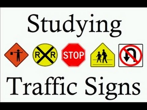 Drivers license test signs study