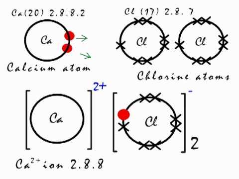 ionic bonding in calcium chloride  cacl2