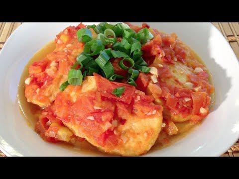 Tofu In Tomato Sauce-Dau Hu Sot Ca Chua-Vietnamese Food Recipes
