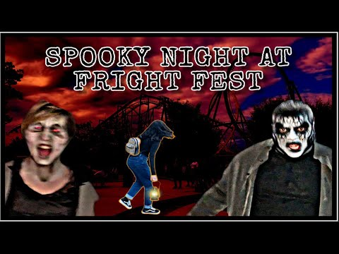 FIRST HALLOWEEN  SPENT AT FRIGHT FEST!! ** I ALMOST FELL**