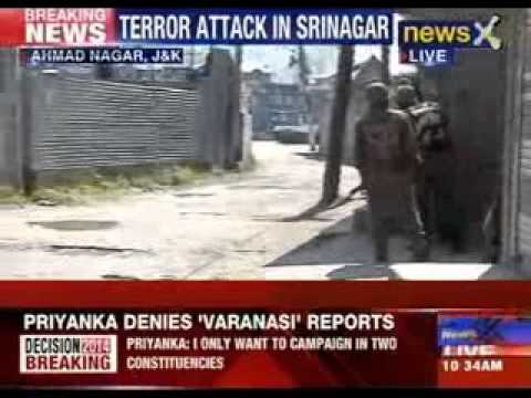 Two terrorists holed up a house in Ahmednagar area of Srinagar