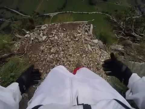 Solo Base Jump Swiss Alps Valley 06/29/16