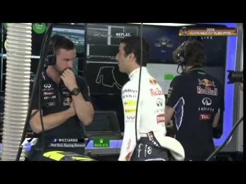 Daniel Ricciardo dancing in FP2.