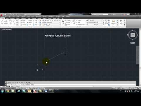 Mryakın Kampüs –  AutoCAD Ders 2 (Kartezyen Koordinat Sistemi Türkçe)