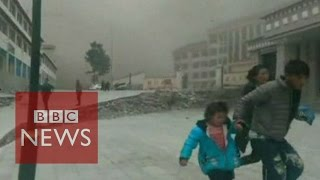 BBC : NEW: Two shocking videos emerge showing moment earthquake hit Tibet & Nepal