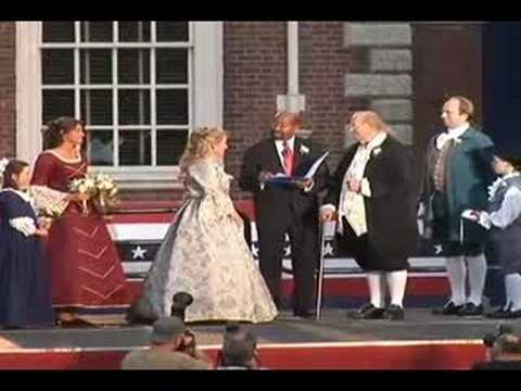 Philadelphia's Ben Franklin & Betsy Ross Wedding