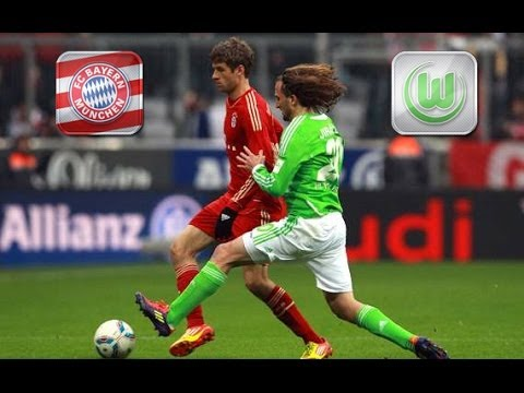 Wolfsburg vs Bayern Munich 1-6 all goals and highlights 08/03/2014