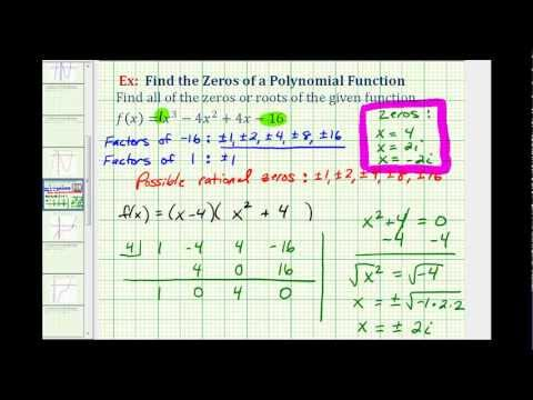 Find the Zeros of a Polynomial Function with Imaginary Solutions