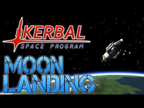 Kerbal Space Program - Part 4 | I LAND ON THE MOON!!!..... KINDA