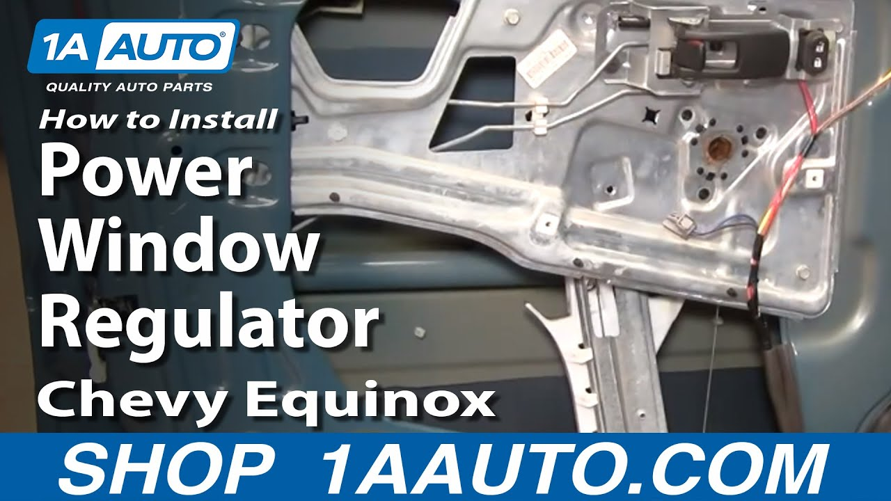 How To Install Replace Power Window Regulator Chevy