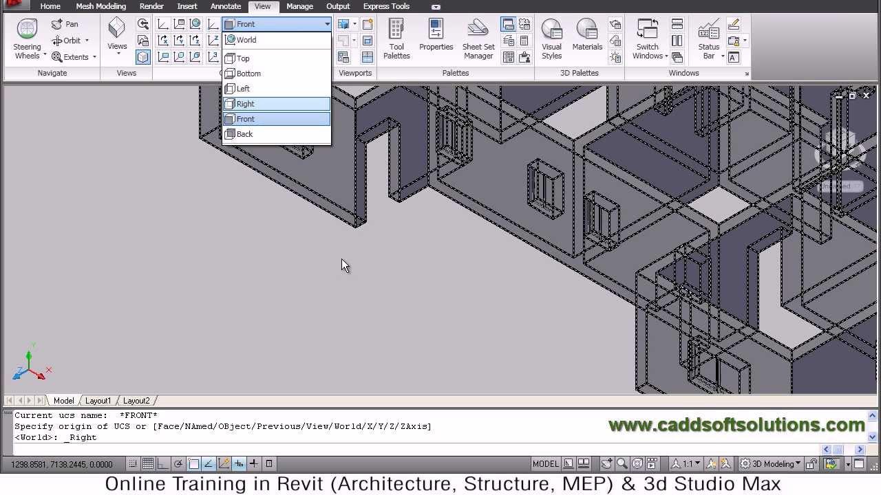 autocad 3d house modeling tutorial 4 3d home 3d