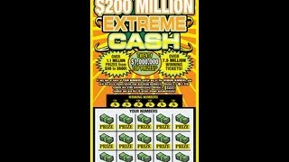 SCRATCH OFF $200 MILLION EXTREME CASH LOTTERY TICKET