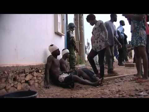 Bangui Tension Erupts/Wounded Protestors-Central Africa Republic