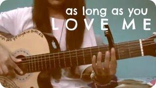 As Long As You Love Me Justin Bieber (tutorial De