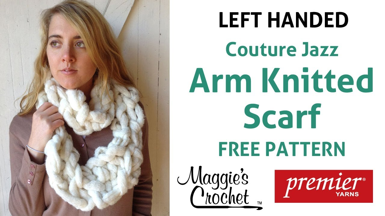 Arm Knitting Left Handed : Arm knitting couture jazz infinity scarf left handed
