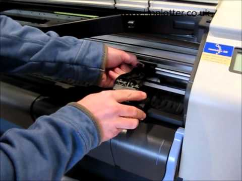 Designjet 500 Series - Replacement of cutter on your printer
