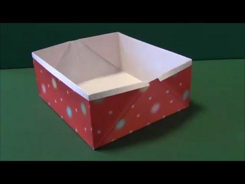 折り紙】箱の折り方・作り方 : 折り紙 小物入れ 簡単 : 折り紙
